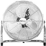 Pro Breeze 50 cm Bodenventilator aus Chrom | Ventilator mit 3 Geschwindigkeitsstufen und...