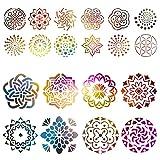 Kesote Schablone Mandala 20 Stück Schablonen Vintage Wiederverwendbar Zeichenschablonen Dotting...