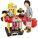 Toy Choi's 83 Stück Werkzeug Kinder, Kinderwerkzeugsätze Werkbank für Jungen Spielzeugsets,...