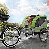 Happypet Hundeanhänger Hundetransporter Fahrradanhänger Hunde Fahrrad Anhänger Regenschutz inkl....