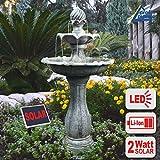AMUR Solar Gartenbrunnen Brunnen Solarbrunnen Zierbrunnen Wasserfall Gartenleuchte Teichpumpe fr...