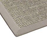 BODENMEISTER Sisal-Teppich modern hochwertige Bordre Flachgewebe, verschiedene Farben und Gren,...