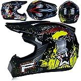 YYKAKUAN Motorrad Erwachsener Off Road Helm Motocross Helm Mountainbike Helm Motorrad ATV MTB MX...