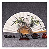 JCCOZ Folding Fan Seide 9 Zoll japanischen Retro Kirschblten-Kreative Craft Fan Dekoration Sommer...