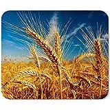 Mousepad Gelbe Landwirtschaft Weizenfeld Gegen Blauen Himmel Obstpflanze Samen Getreide Getreide...