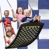 Groe Mehrkindschaukel STANDARD wei/blau fr 4 Kinder, 136 x 66 cm (SPR.L.101)