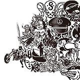 [60 Stück] Graffiti schwarz-weiße Aufkleber, Vinyls für Laptop, Kinder, Autos, Motorrad, Fahrrad,...