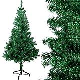 OZAVO Weihnachtsbaum künstlicher, Tannenbaum 120 cm, Christbaum in grün, inkl. Metallständer,...