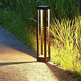 LED Gartenleuchte Wegeleuchte Pollerleuchten 3000K,Extra Helle 9W LED,4.33 * 4.33 * 23.9...