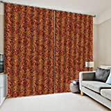 Fenstervorhang-Folie Rotes Muster des Effektes des Druckes 3D Decoracion House Window Curtains...