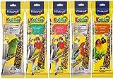 Vitakraft Mixed Vielzahl 5x Twin Pack 10Sticks Sittiche Nymphensittiche Aufhängen Käfig BIRD...