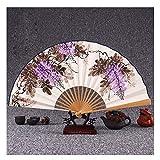 JCCOZ Folding Fan chinesischen Stil Hand Fans Hand Props for Tanzen Cosplay Innenministerium Wand...
