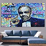 JNZART Kunst Leinwand Malerei Straßenkünstler Scrooge Mcduck Dollar Zeichen Statue Poster Wandbild...