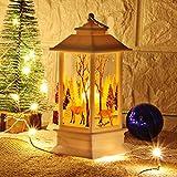 Lámpara de Mesa LED-Teelicht Weihnachtsmann Schneemann Deko Hirsch Elk Santa Claus Schneemann...