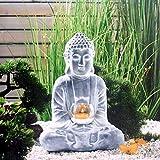 Garten Ornamente Retro und alte Zen Buddha Kerzenhalter Ornamente wasserdichte Magnesiumoxid Garten...