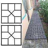 Pflaster Betonform Gehweg Form Pflasterform Schalungsform Gehwegplatten fr Garten 40x40cm