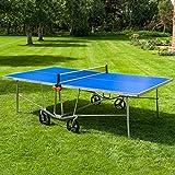 Vermont TS100 Tischtennis-Tisch für den Innen- und Außenbereich - EIN Blauer PingPong Tisch in 4...