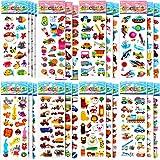 LISOPO 3D Aufkleber für Kinder Sammelaufkleber für Mädchen, Jungen, Lehrer, Kleinkinder,...