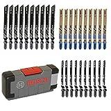 Bosch Professional 30tlg. Stichsägeblatt Set Basic for Wood and Metal (für Holz und Metall,...