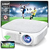 WISELAZER Beamer Full HD Beamer 4K Native 1080P, Versiegelt und Staubdicht Beamer Outdoor WiFi HD...