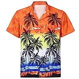 FRAUIT Herren Hawaiihemd Funky Hawaiihemd | Herren | Kurzarm | Front-Tasche | Hawaii-Print | Papagei...