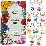 Blumen Samen für Garten und Balkon: 10 Sorten Premium Blumensamen Tütchen als Pflanzensamen Set...
