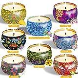 McNory Duftkerze Geschenk Set,8 Stück Vanille, Lavendel Aroma Kerzen Reisekerzen für Frauen,...
