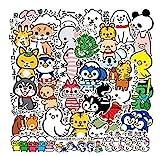 SUNNU Ins Japanese-Sty Cute Cartoon Tier Aufkleber fr Laptop Wasserflasche Telefon Gepck Koffer...