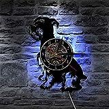 FDGFDG Schnauzer Hund führte Licht Tiere Vintage LP Hintergrundbeleuchtung Moderne handgemachte...