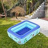 Oumefar Faltbares Design Aufblasbares Schwimmbecken Planschbecken 115 x 92 x 33 cm für Kinder