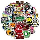 YMSD 50 Stück Marken-Logo-Aufkleber, wasserdicht, für Gepäck, Koffer, Skateboard, Trend,...
