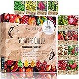 Chili Samen Set I 12 scharfe bis milde Chili Samen Sorten in höchster Qualität I von Carolina...