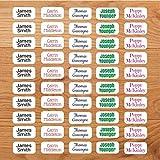 Personalisierte Namensetiketten für Kleidung kleben, nicht bügeln. 22 mm x 11 mm (30 Etiketten)