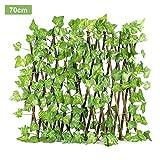 Sichtschutz Balkon Pflanzenwand Blätterzaun Retractable Fence Expanding Durable Holzgitter Pflanze...