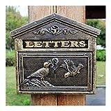 WSHFHDLC Schreiben Aufbewahrungsbox Mailbox Mailbox Retro europäischen Stil Villen Innenhof Schloss...