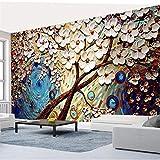 Sijoo Tapete, Kinderzimmer, enorme weiße Geldbaum-Ölgemäldewand...