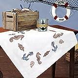 Kamaca Stickpackung AM Meer Kreuzstich vorgezeichnet aus 100% Baumwolle qualitativ sehr hochwertig...