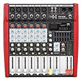 E-Lektron PW-608 Live Power-Mixer 6-Kanal + stereo MP3-Kanal Mischpult inkl. 2x 250W Endstufe