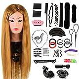 Neverland Beauty 24' Übungskopf Frisierkopf Friseur 60% Echthaar Haar Perückenkopf Puppenkopf...
