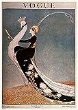 onthewall Vintage Vogue Cover April 1918Poster Kunstdruck