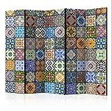 murando Raumteiler Mandala Ornament Oriental Foto Paravent 225x172 cm beidseitig auf Vlies-Leinwand...