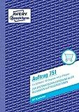 AVERY Zweckform 751 Auftrag (A5, 3x50 Blatt, mit 2 Blatt Blaupapier und 2 Durchschlägen, zur...