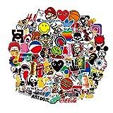 Coole Sticker Pack (100-tlg) Trendy Sticker Laptop Vinyl Aufkleber für Wasserflasche, Gepäck,...