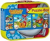 Schmidt Spiele 55594 Benjamin Blümchen, Puzzle-Box im Metallkoffer, 2x26 und 2x48 Teile...