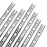Yaheetech 12 Stück Schubladenschienen Teilauszug Rollenauszug Teleskopschiene Kugelführung, aus...