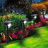 Leolee Solarlampen für Außen, [4 Stück] Solarleuchten Garten Sehr Hell LED Solar Strahler 2 Modi...