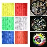 Reflektor für Fahrrad-Speichen 72 Stück, 6 Farben reflektierende Clips für Fahrrad Warnung...