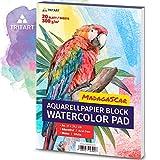 HOCHWERTIGES Aquarellpapier 300g / Din A4 / Wei / 20 Blatt | Aquarellblock von Tritart