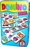 Schmidt Spiele 51240 Domino Junior, Bring Mich mit Spiel in der Metalldose