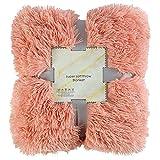 diirm Überwurfdecke aus Kunstfell, wendbar, flauschig, zottelig, weich, warm, Geschenk für Kinder,...